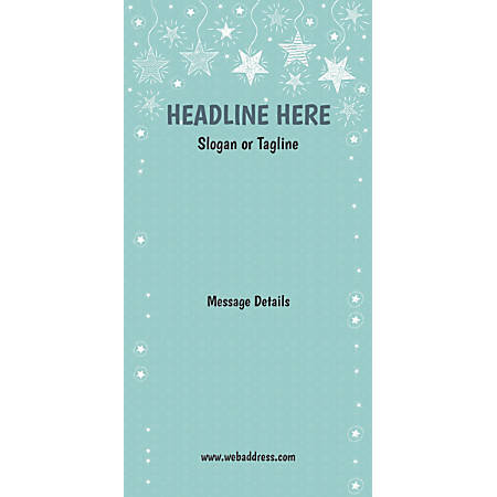 Custom Vertical Display Banner, Stars