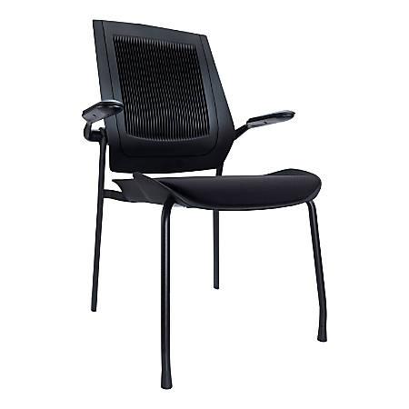 Koplus BodyFlex Fabric Guest Chairs, Midnight Black, Set Of 2