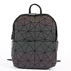 Inkology Geometric Iridescent Backpack With 13