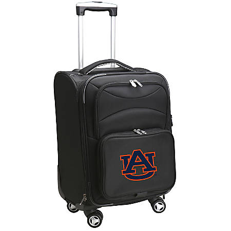 """Denco ABS Upright Rolling Carry-On Luggage, 21""""H x 13""""W x 9""""D, Auburn Tigers, Black"""