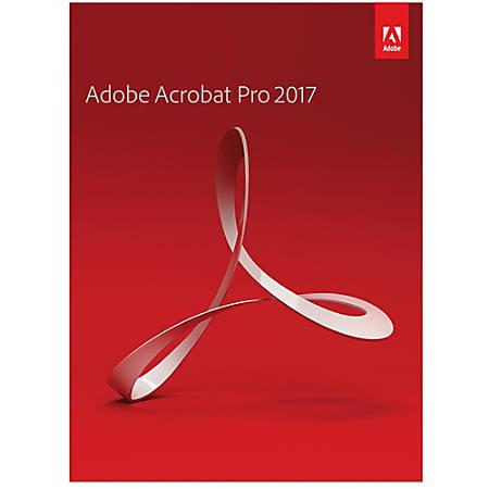 Adobe Acrobat Pro 2017 (Mac), Download Version