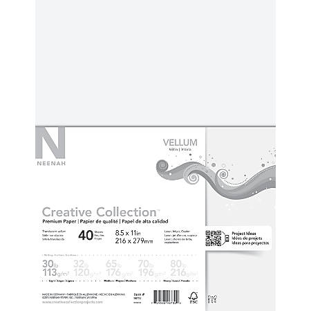 "Neenah® Creative Collection™ Paper, Vellum, Letter Size (8 1/2"" x 11""), FSC® Certified, Translucent, Pack Of 40 Sheets"