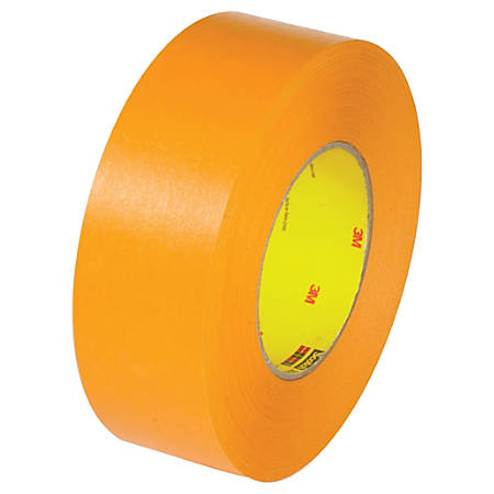 "3M™ 2525 Flat-Back Tape, 3"" Core, 2"" x 60 Yd., Orange, Pack Of 24"