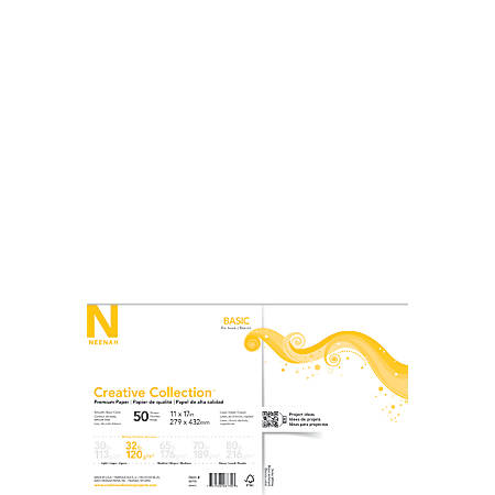 "Neenah® Creative Collection™ Paper, 11"" x 17"", FSC® Certified, Solar White, Pack Of 50 Sheets"