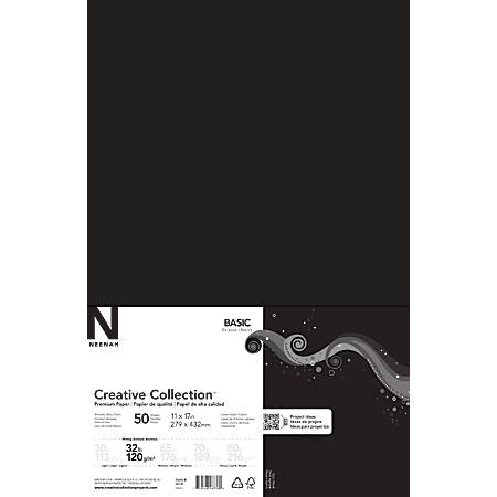 "Neenah® Creative Collection™ Paper, Ledger Size (11"" x 17""), FSC® Certified, Eclipse Black, Ream Of 50 Sheets"