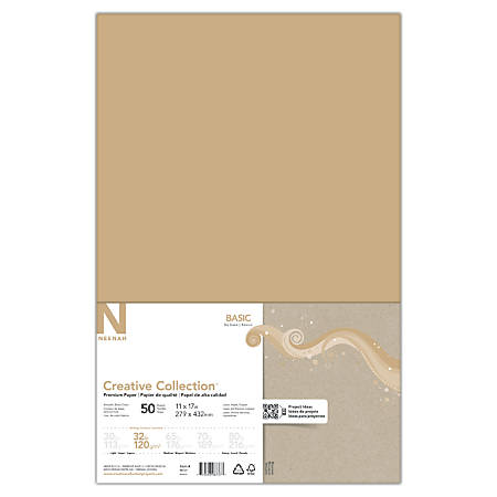 """Neenah Creative Collection™ Paper, 11"""" x 17"""", FSC® Certified, Desert Storm, Pack Of 50 Sheets"""