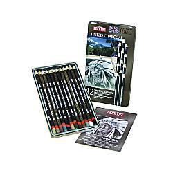 Derwent Tinted Charcoal Pencil Set 8