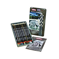Derwent Tinted Charcoal Pencil Set 8