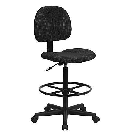 Flash Furniture Ergonomic Adjustable Drafting Chair, Black