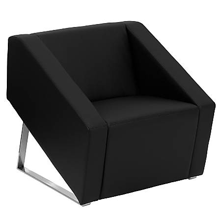Flash Furniture HERCULES Smart Series Leather Reception Chair, Black