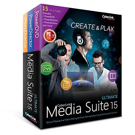 CyberLink Media Suite 15 Ultimate, Download Version