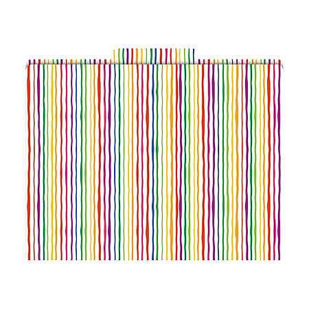 "Barker Creek Tab File Folders, 8 1/2"" x 11"", Letter Size, Stripes, Pack Of 12"