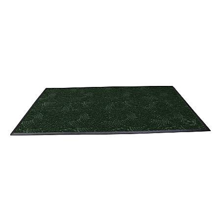 "Waterhog Plus Swirl Floor Mat, 36"" x 48"", 100% Recycled, Southern Pine"
