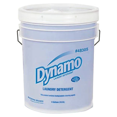 Ajax® Dynamo Liquid Laundry Detergent, Fresh Scent, 5 Gallons, White