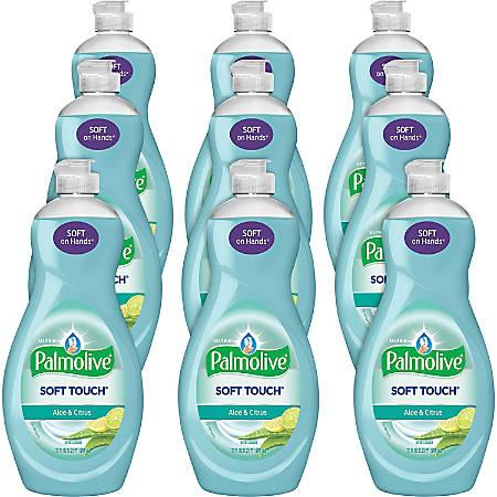 Palmolive Soft Touch Ultra Dish Soap - 0.16 gal (20 fl oz) - Aloe & Citrus Scent - 9 / Carton - Clear