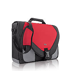 Solo Classic 17 Messenger Bag Red