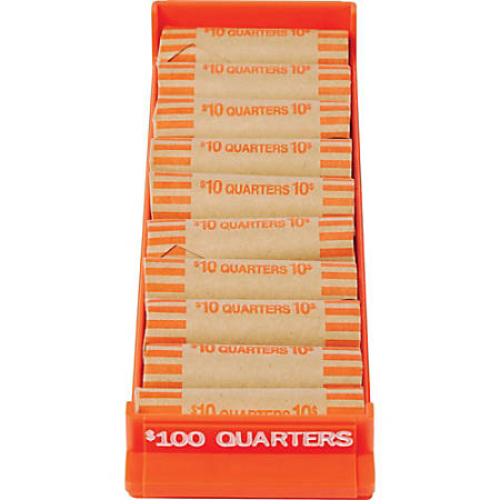 MMF Industries™ Porta-Count® System Coin Trays Quarters-$100.00, Orange