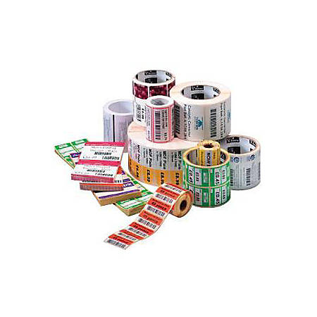 "Zebra Label Paper 4 x 4in Direct Thermal Zebra Z-Perform 1000D 0.75 in core - Permanent Adhesive - 4"" Width x 4"" Length - Square - Direct Thermal - White - Paper, Acrylic - 160 / Roll - 36 / Roll"