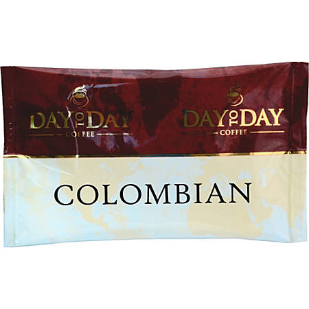 PapaNicholas Day To Day Colombian Coffee Pot Single-Serve Packets, Carton Of 42