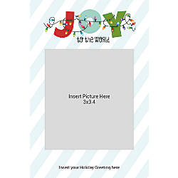 Flat Photo Greeting Card Joy With