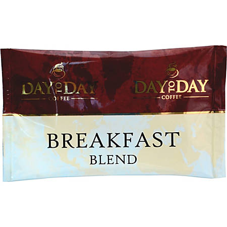 PapaNicholas Day To Day Breakfast Blend Coffee Pot Single-Serve Packets, Carton Of 42