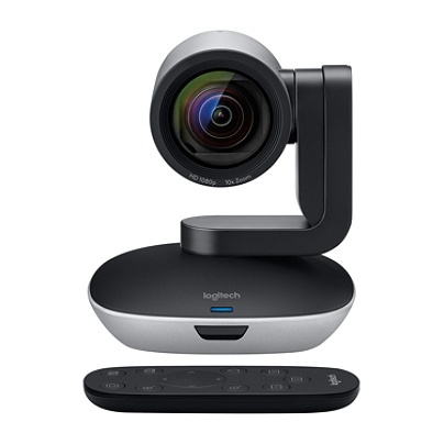 f8fb68fb68b Logitech® PTZ Pro 2 Video Conferencing Camera, Black/Silver. Use + and -  keys to zoom in and out, arrow keys move the zoomed portion of the image