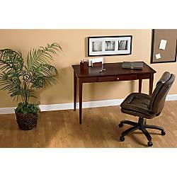 Realspace Inlay Writing Desk Light Cherry