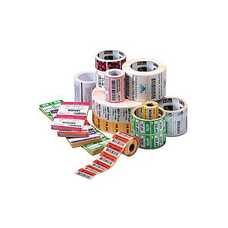 """Zebra Label Paper 4 x 6in Direct Thermal Zebra Z-Perform 1000D Value 0.75 in core - Permanent Adhesive - 4"""" Width x 6"""" Length - Direct Thermal - White - Paper, Acrylic - 105 / Roll - 36 / Roll"""