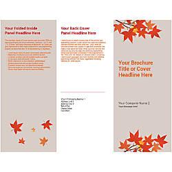 Customizable Trifold Brochure Orange Autumn Leaves