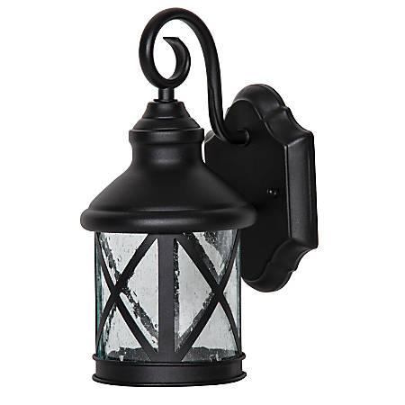 Luminance LED Porch Lantern Wall Mount Fixture, 9 Watts, 3000K/Warm White, 830 Lumen, Black/Clear Bubble Glass, F9957-31