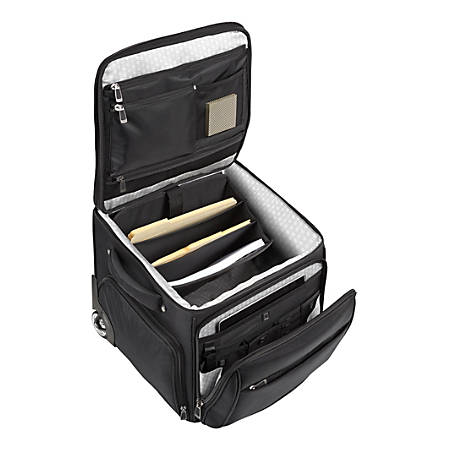 "Ativa™ Ultimate Workmate Rolling Briefcase With 15"" Laptop Pocket, Black"