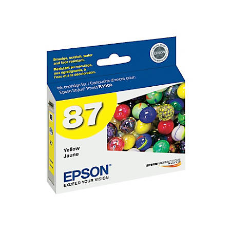 "Epson® 87, (T087420) UltraChrome™ ""Hi-Gloss® 2"" Yellow Ink Cartridge"
