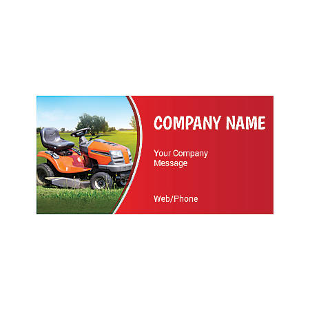 Magnetic Sign, Lawnmower Services, Horizontal