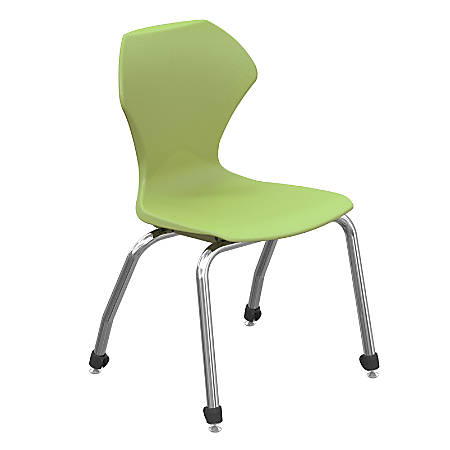 """Marco Group™ Apex™ Series Stacking Chairs, 16"""" Seat Height, Apple/Chrome, Set Of 4"""