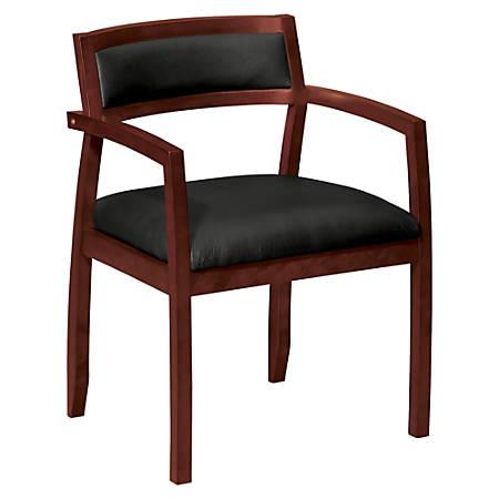 basyx® by HON® VL852 Guest Chair, Black/Mahogany