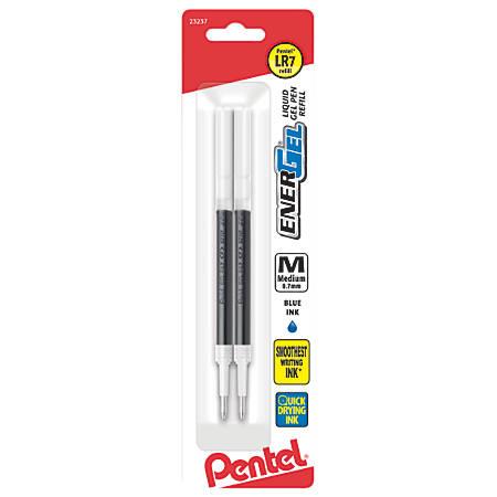 EnerGel™ Pen Refills, Medium Point, 0.7 mm, Blue Ink, Pack Of 2