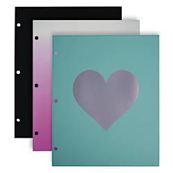 Divoga 2 Pocket Paper Folder Hearts