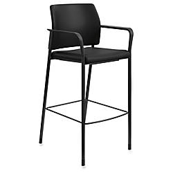 HON Accommodate Cafe Stool Vinyl Black