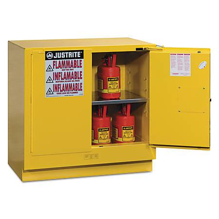 Yellow Undercounter Cabinets, Self-Closing Cabinet, 22 Gallon