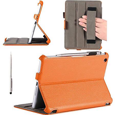 i-Blason MINI2-H-ORANGE Carrying Case (Book Fold) iPad mini, iPad mini with Retina Display - Orange - Polyurethane Leather, MicroFiber Interior - Hand Strap
