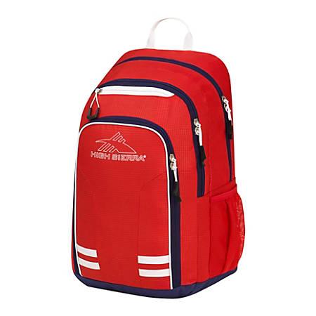 High Sierra Blaise Laptop Backpack, Crimson/True Navy/White