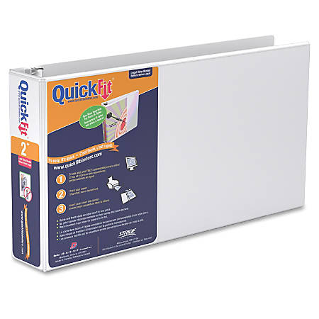 "Stride QuickFit® Landscape Binder, 1"" Rings, 46% Recycled, White"