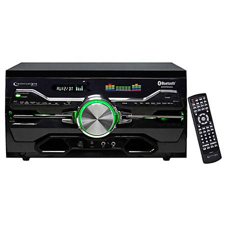 "Technical Pro DV4000 DVD Player And Receiver, 5""H x 10""W x 17""D, Black"