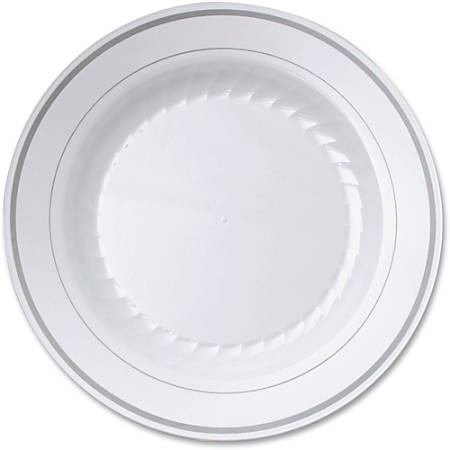 "Masterpiece WNA Comet Round Plate - 9"" Diameter Plate - Plastic - Disposable - White - 10 Piece(s) / Pack"