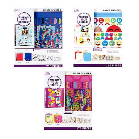 """Sticko Back To School Mega Binder Kit, World Tile, Doodle Floral Or Metallic Botanical, 10 1/4"""" x 11 3/4"""", Multicolor"""