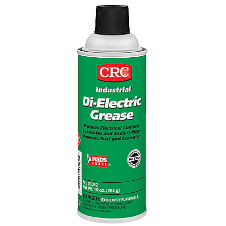 CRC NLGI Grade 2 Di-Electric Grease, 16 Oz Aerosol Cans, Pack Of 12 Cans