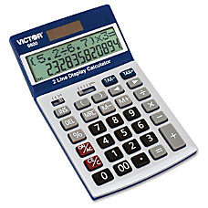 Victor Easy Check Two Line Calculator