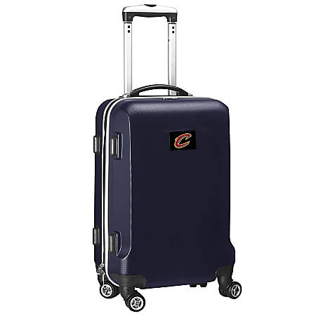 """Denco 2-In-1 Hard Case Rolling Carry-On Luggage, 21""""H x 13""""W x 9""""D, Cleveland Cavaliers, Navy"""