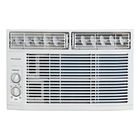 Frigidaire 6,000 BTU Window-Mounted Room Air Conditioner - Cooler - 1758.43 W Cooling Capacity - 250 Sq. ft. Coverage - Yes - Antibacterial Mesh - White