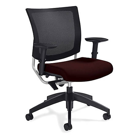 """Global® Graphic Mesh-Back Task Chair, 36""""H x 25""""W x 24""""D, Cabernet"""